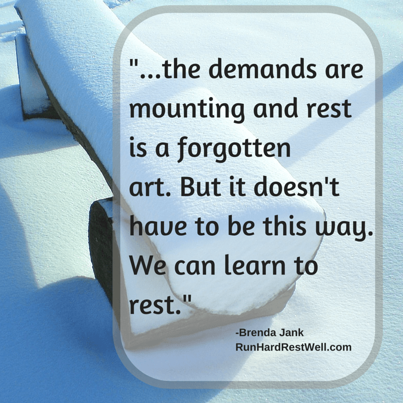 We can learn to rest