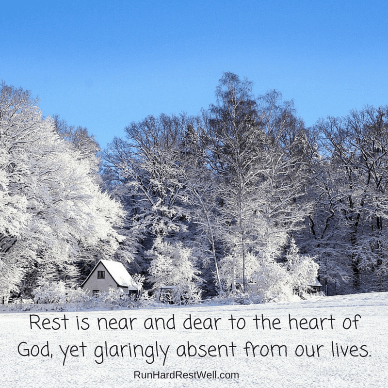 Rest is near and dear to the heart of God